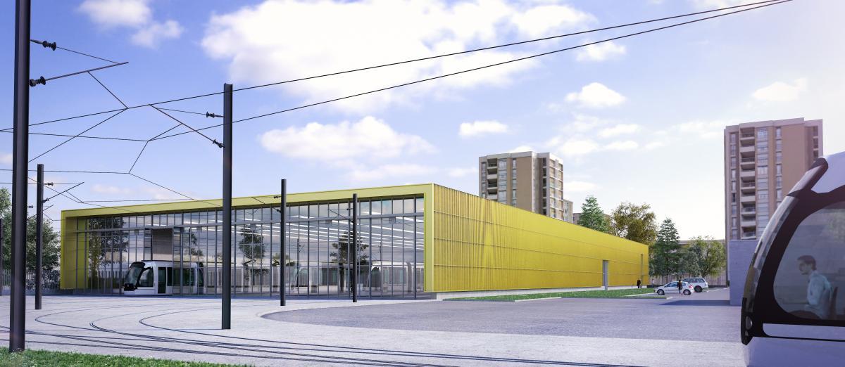 Centre de maintenance du tramway tram du grand avignon - Ligne bus avignon ...